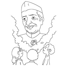 Kid's-Paying-Homage-To-Nehru