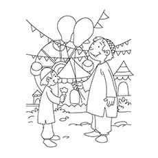 Ramadan Coloring Pages - Kid With His Father