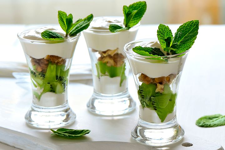 Baby Shower Kiwi Yogurt Cups Recipes
