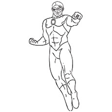 green lantern coloring pages kyle rayner