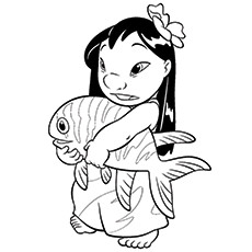 10 Cute    Lilo And Stitch    Coloring Pages For ToddlersLilo Love Child