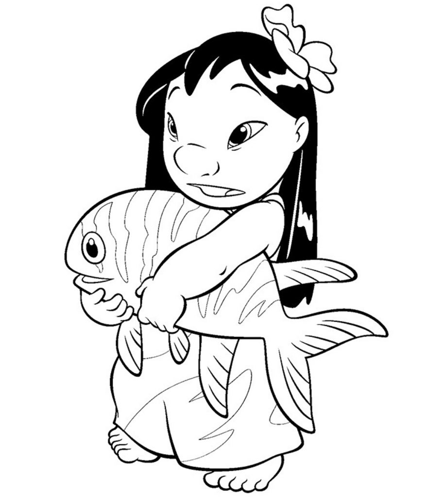 10 Cute Lilo And Stitch Coloring Pages For Toddlers