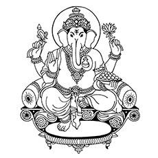 Ganesha Coloring Pages - Lord Ganesha