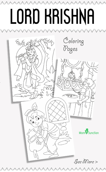 10 wonderful lord krishna coloring pages for toddlers - Baby Krishna Images Coloring Pages