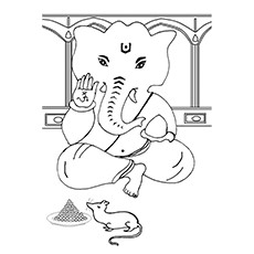 Ganesha Coloring Pages - Lover Of Sweets