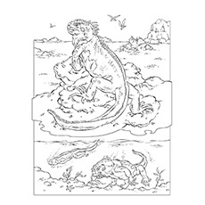 Iguana Coloring Page - Marine Iguana