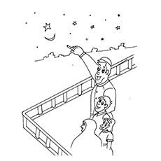 Ramadan Coloring Pages - Moon Sighting