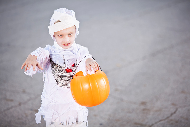 Mummy scary halloween costumes for kids Pictures