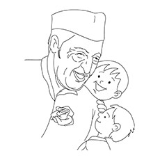 Pandit-Nehru-With-Two-Cute-Kids