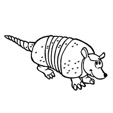 10 funny armadillo coloring pages for for your little