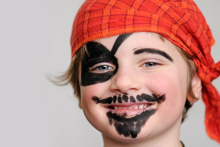 Halloween Face Paint For Kids - Pirate