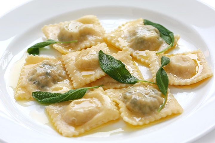 Ravioli with Ricotta cheese filling