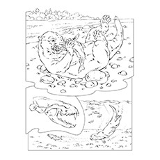 river otter coloring page - Otter Coloring Pages