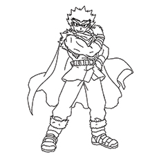 ryuga pic to color - Beyblade Coloring Pages