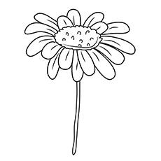 Daisy Flower Garden Coloring Sheets Printable Coloring Pages
