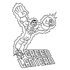 Green Lantern Coloring Pages - Simon Baz