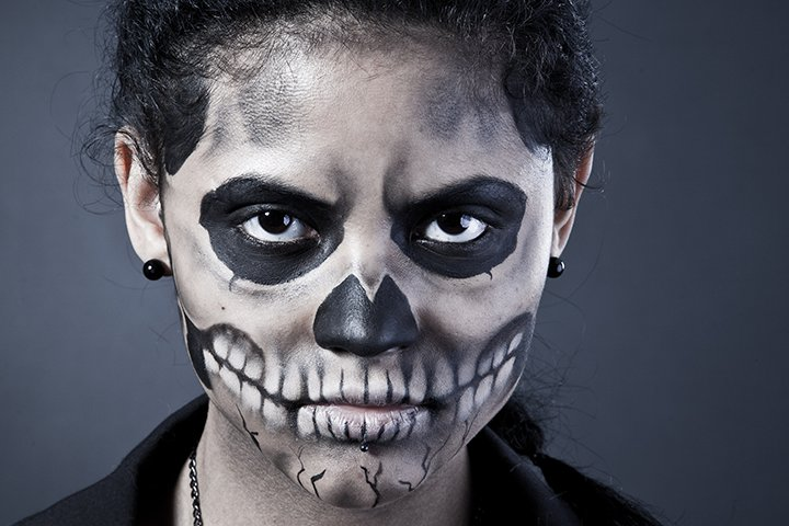 scariest halloween face paint for kids