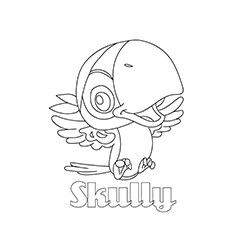 Skully Coloring Pages