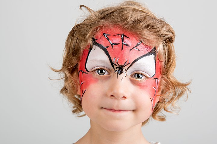 Halloween Face Paint For Kids - Spider