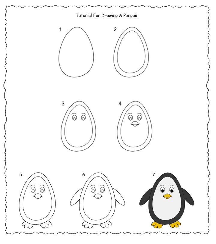 How To Draw A Penguin Step By Step Easy Tutorial For Kids