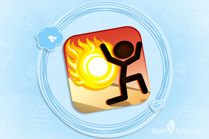 Kid Shooting Game Pictures - Stickman VS Fireball