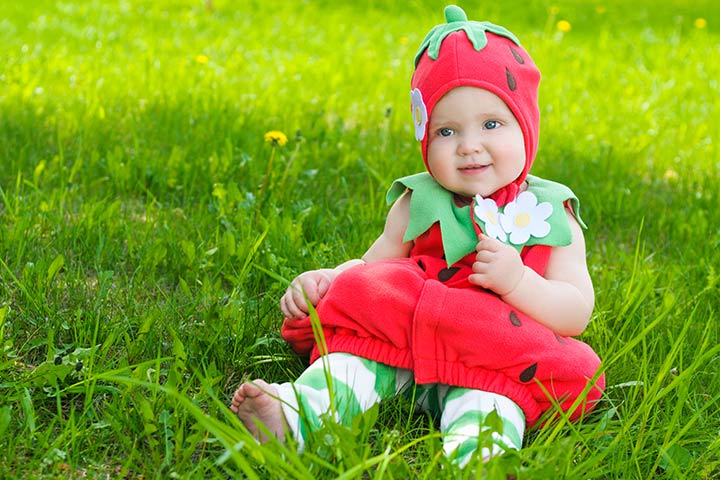 Halloween Costumes For Babies - Strawberry Costume  sc 1 st  MomJunction & 20 Cute Halloween Costumes For Babies/Infants