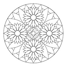 Sunflower Coloring Page - Sunflower Mandala