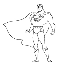 Coloring Worksheets of Justice League Character Superman