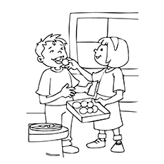 Diwali Coloring Pages - Sweet Distribution