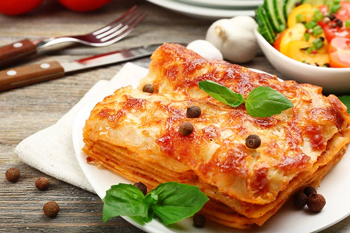 recipes to make with kids - Sweet Pea Lasagna