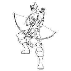 Hawkeye Coloring Pages - The Amazing Hawkeye