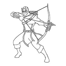Hawkeye Coloring Pages - The Proficient Archer