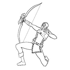 Hawkeye Coloring Pages - The Strong Spiderman