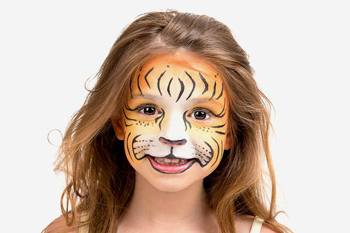 Halloween Face Paint For Kids - Tiger