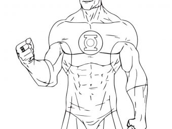 Top 10 Green Lantern Coloring Pages For Toddlers