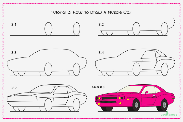How To Draw A Muscle Car With Pictures