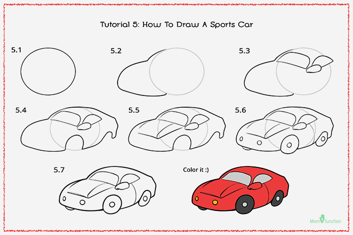 How To Draw A Sports Car With Pictures