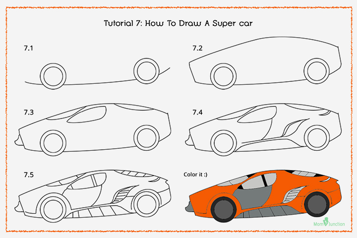 How To Draw A Supercar With Pictures
