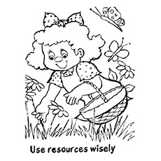 Daisy Use Your Resources Wisely Coloring Pages