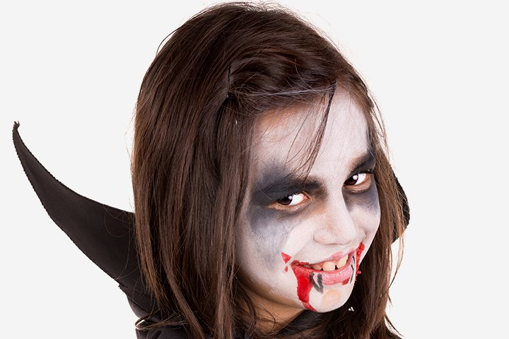 halloween face paint for kids vampire