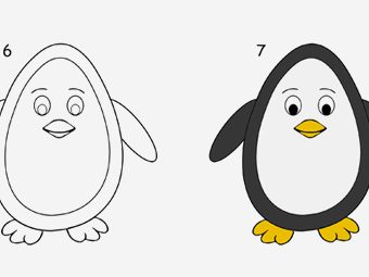 7 Step By Step Tutorial For Drawing A Penguin For Kids