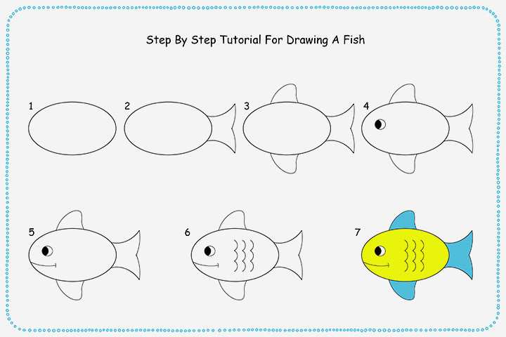 How to draw a clown fish step by step