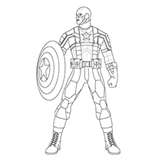 Captain America Coloring Pages - A Captain America