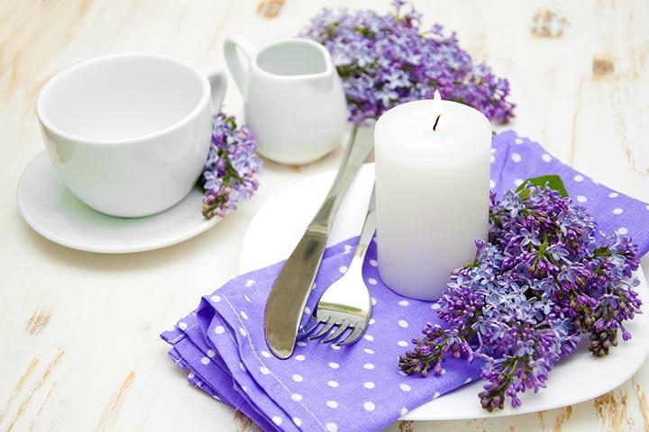Baby Shower Ideas - A Purple Feminine Touch