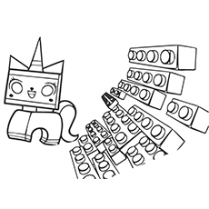 A Unikitty Coloring Sheet