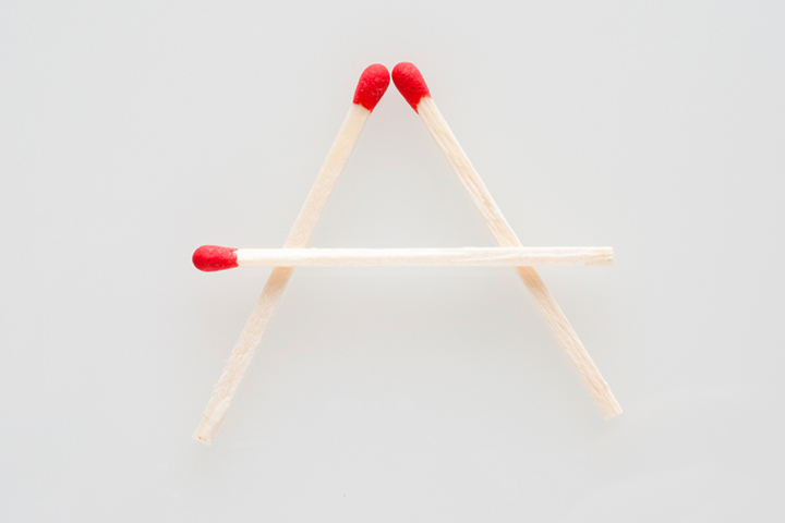 Alphabet With Match Sticks