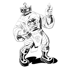 captain america coloring pages arnim zola - Captain America Pictures To Color
