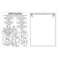 Auld Lang Syne Worksheet to Color