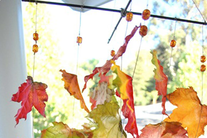 Leaf activities - Autumn Leaves Wind Chime
