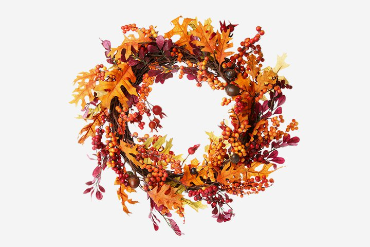 Thanksgiving Crafts For Kids - Autumn Wreath
